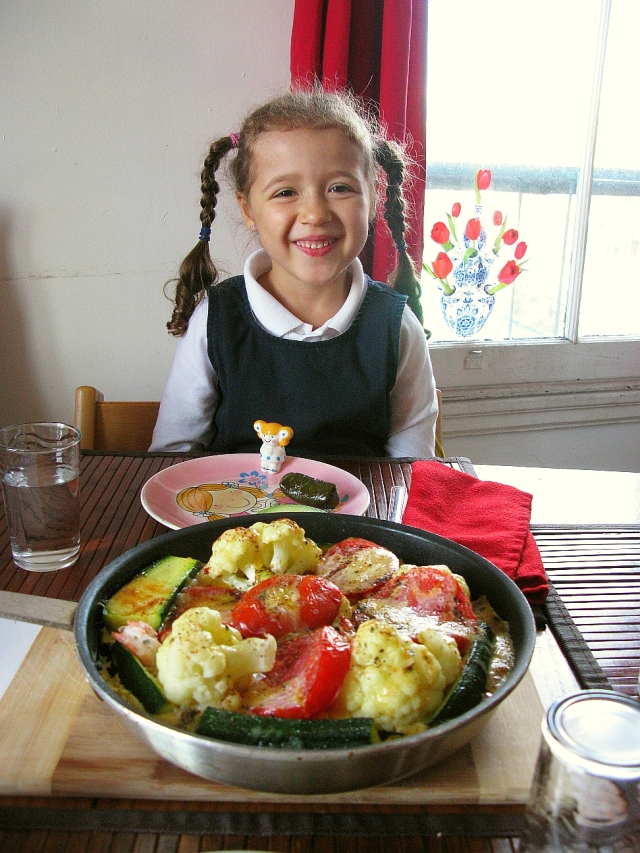 Wonderfull schoolgirl and Quiche Au gratin